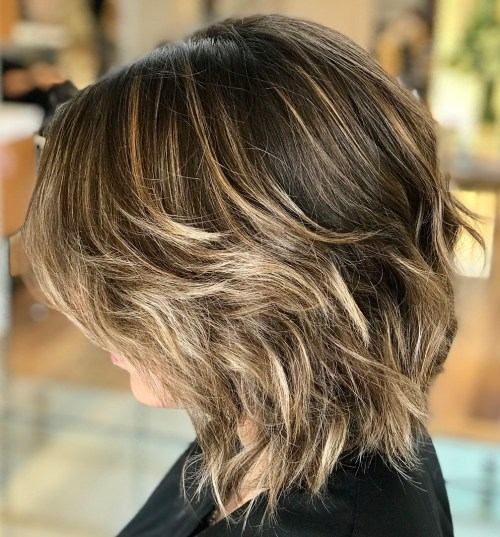 Medium Shag With Subtle Balayage