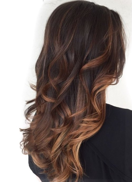 Subtle Reddish Brown Highlights