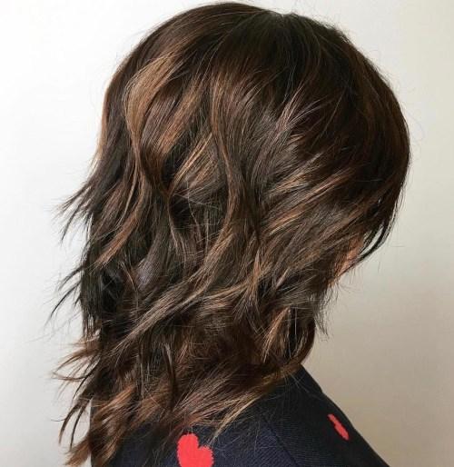 Longer Brunette Shag