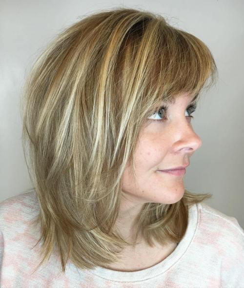 Brown Blonde Wavy Balayage Hair