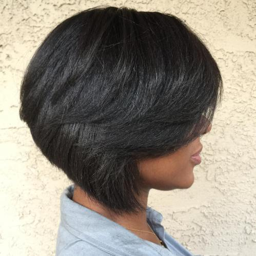 Short Inverted Bob For Black Women