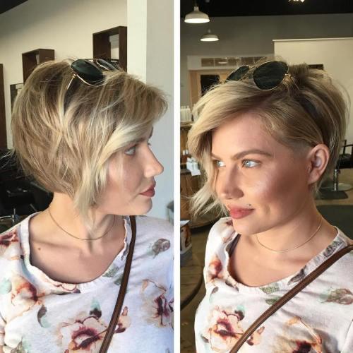 Asymmetrical Blonde Pixie For Thin Hair