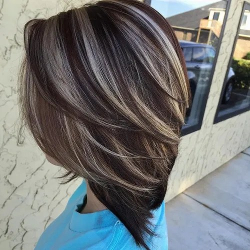 Brown Hair With Ash Highlights by Jes Barnwell
