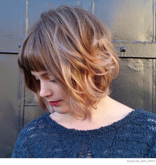 wavy hair short styles 50 most delightful wavy hairstyles 5100 | 4 short messy bob with bangs