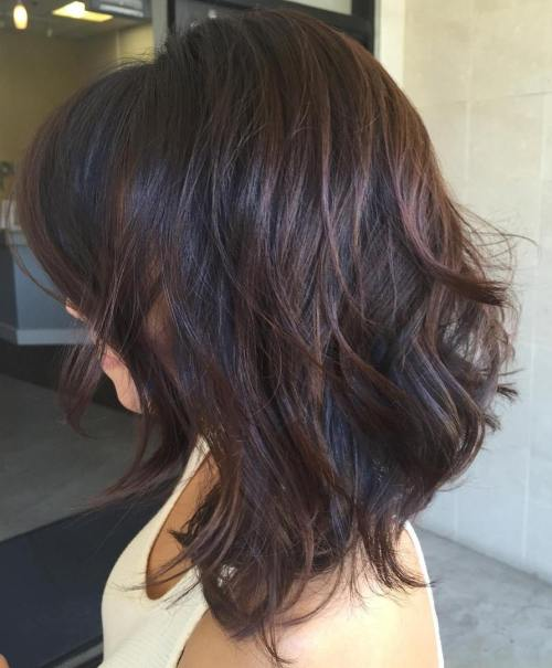 Black Layered Hair With Chocolate Balayage
