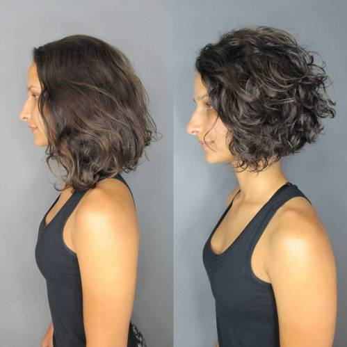 Short Wavy Inverted Bob Hairstyle