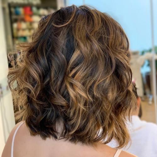 Shoulder-Length Wavy Shaggy Haircut