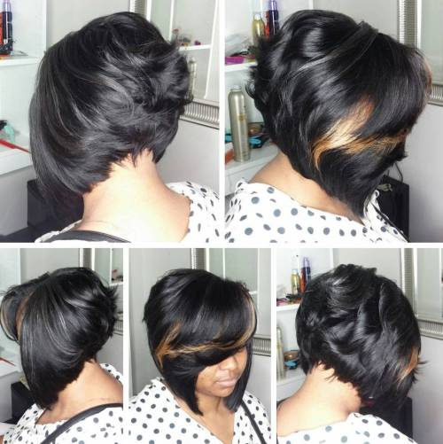 African-American Short Inverted Bob