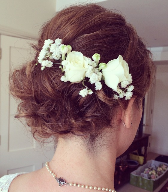 "Curly Updo Hairstyles For Weddings: 40 Best Short Wedding Hairstyles That Make You Say ""Wow!"""