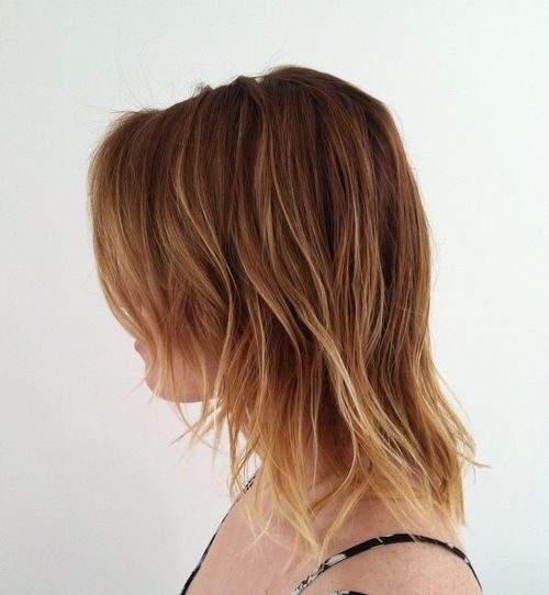 layered hairstyle with highlights for fine hair