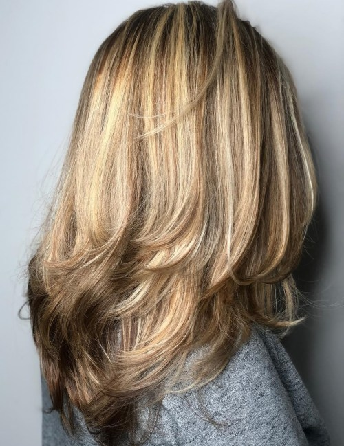 Long Thick Hair With Layers And Lowlights