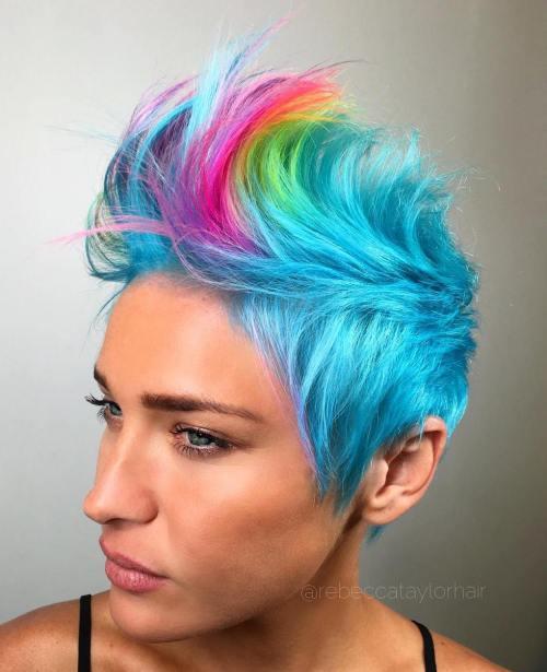 pastel blue pixie mohawk