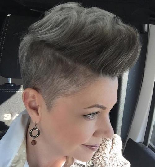Short Ash Brown Undercut For Women