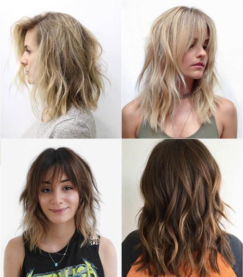 Astonishing 90 Sensational Medium Length Haircuts For Thick Hair In 2017 Hairstyles For Women Draintrainus