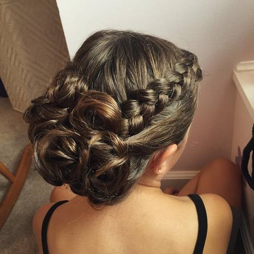 side braid prom hairstyle for long hair