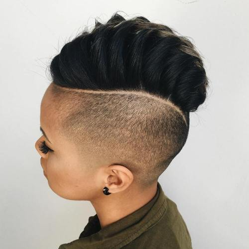 women's mohawk with undershave