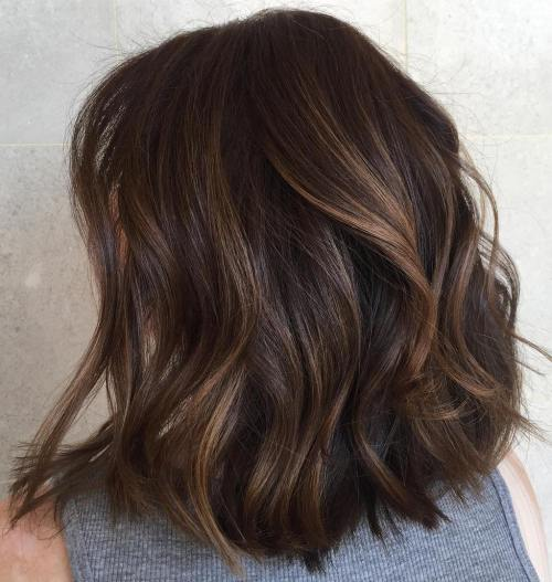 Mid-Length Layered Wavy Hair