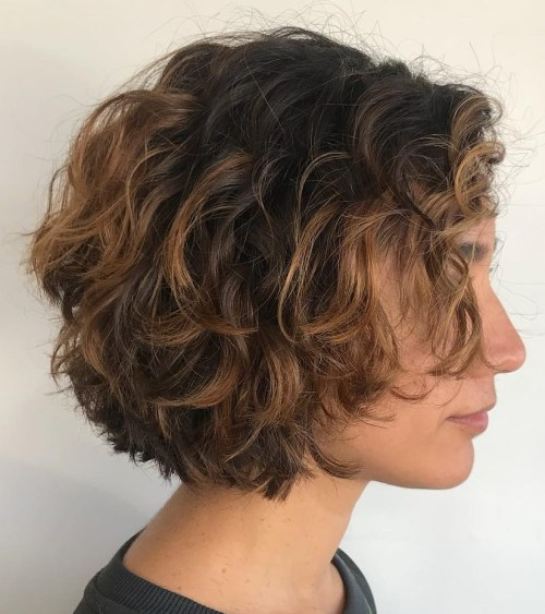 Short Textured Curly Bob
