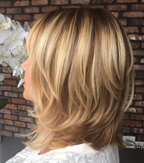 70 brightest medium length layered haircuts and hairstyles shoulder length layered brown blonde hair urmus Choice Image
