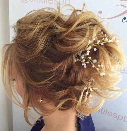 Voluminous Curly Updo