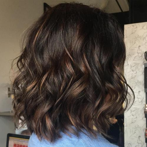 Brown Hair Highlights For Long Bob
