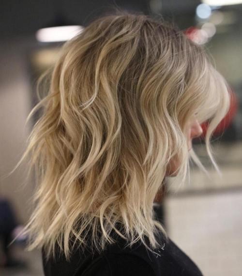 Longer Blonde Balayage Shag