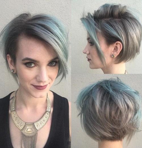 Short Shaggy Gray Hairstyle
