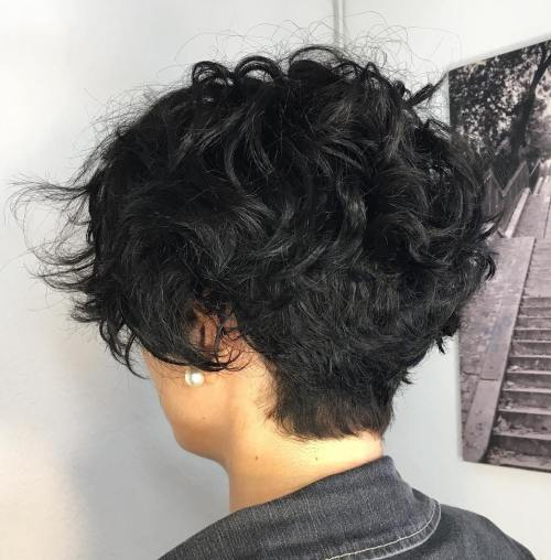Short Tapered Wavy Pixie