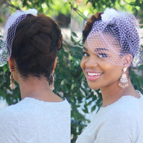 Simple Braided Updo For Natural Hair