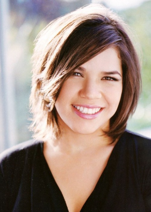 America Ferrera bob hairstyle for overweight women