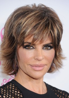Lisa Rinna edgy hairstyle with flicks