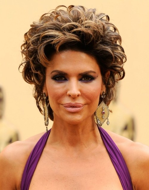 Lisa Rinna shag hairstyle
