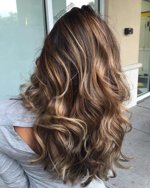 Brown Hair With Bronde Highlights