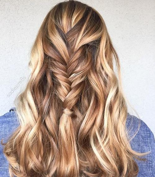 Caramel And Blonde Highlights