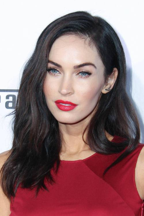 Megan Fox Burgundy hair color