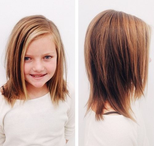 medium layered haircut for girls