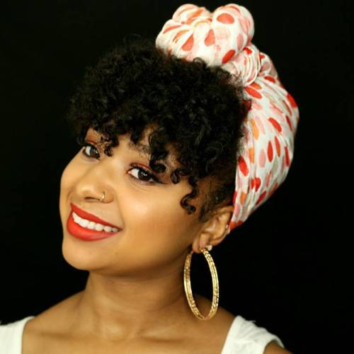 Natural Hairstyle With A Bandana