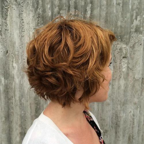 Short Chestnut Brown Curly Hair