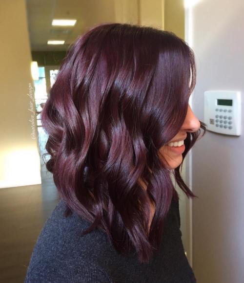 Dark Purple Layered Lob