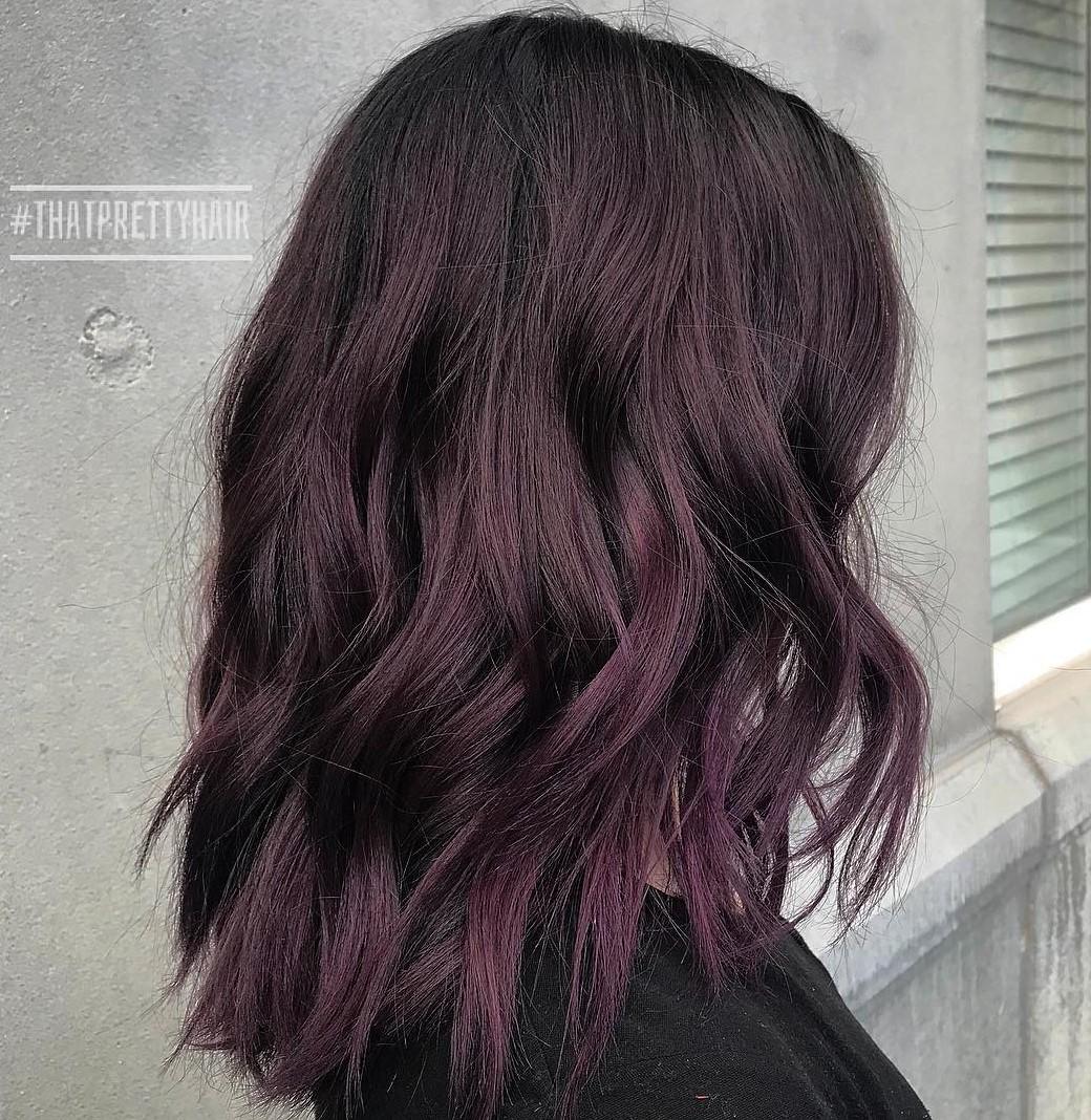 Cherry Purple Hair Dark Colour Pretty Picturesboss
