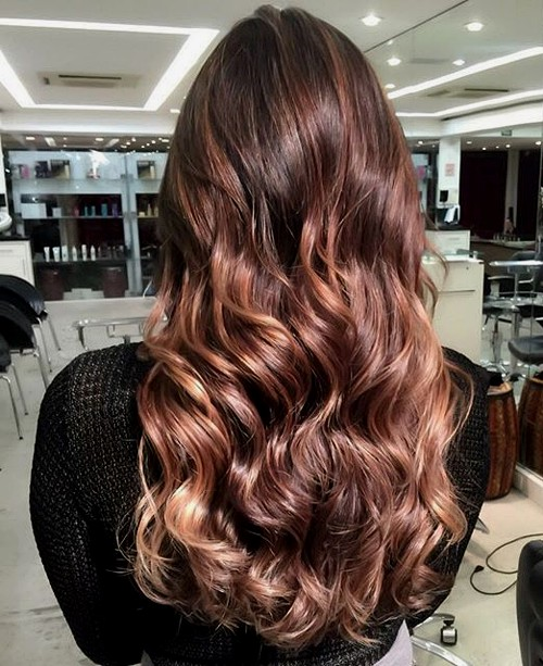 subtle chocolate ombre hair
