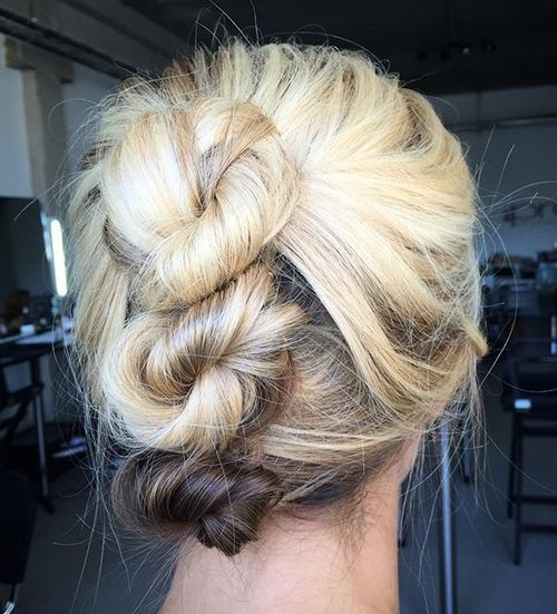 three buns updo