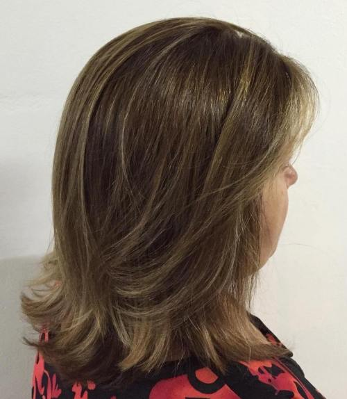 50+ Shoulder Length Layered Hairstyle