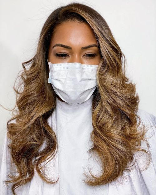 Balayage on Natural Black Hair