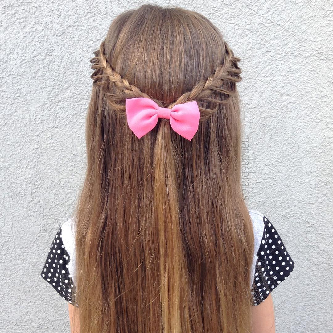 Braided Half Updo For Little Girls