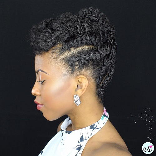 Natural Hairstyles 10 back to school easy natural hairstyles Braided Updo For Natural Hair