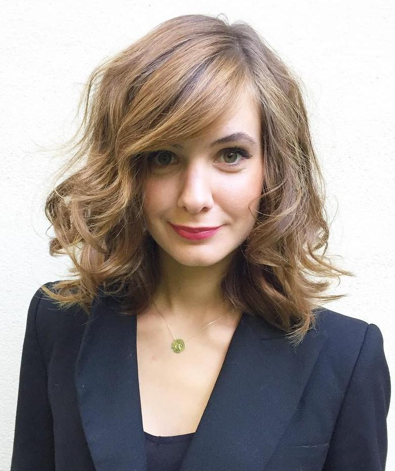Mid-Length Side-Parted Layered Hairstyle