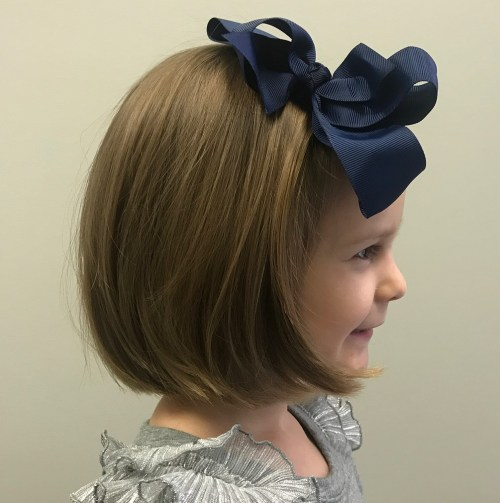 Pretty Bob Hairstyle For Little Girls