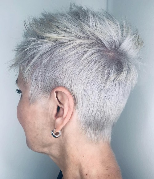 Super-Short Pixie for Fine Hair Over 50