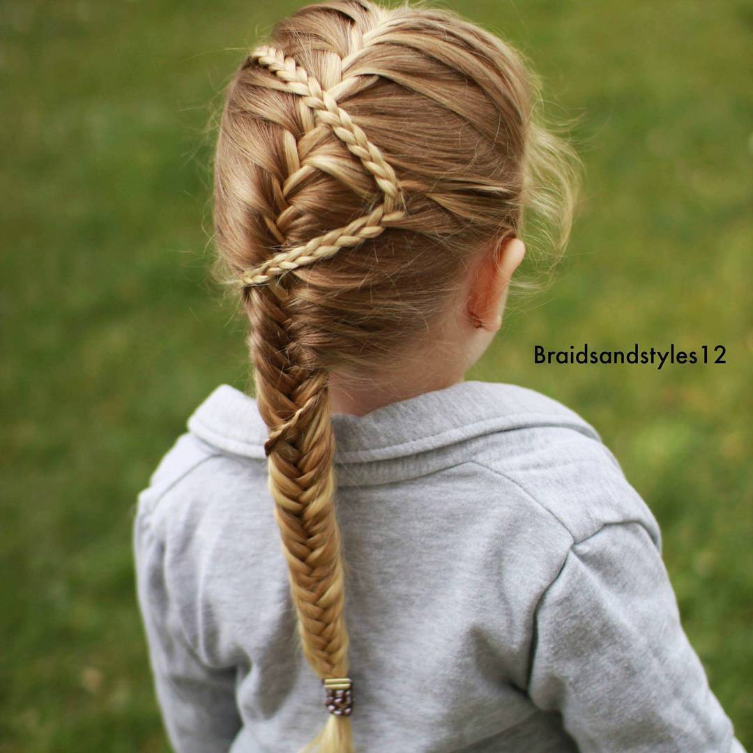 Little Girls Fishtail Hairstyle